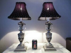PAIR OF VINTAGE PINEAPPLE LAMPS WITH VINTAGE SHADES
