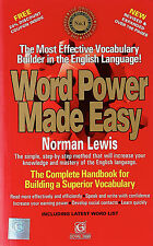 WORD POWER MADE EASY- NORMAN LEWIS (PAPERBACK) NEW