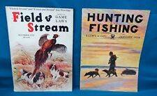 1934 Hunting and Fishing/1930 Field and Stream Magazine Lot of 2