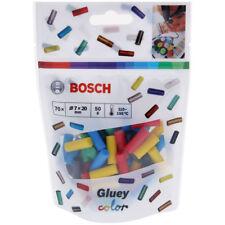 Bosch Gluey Klebesticks, Farb-Mix 70 Stück, 7 x 20 mm, 50 g