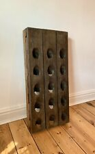 Antique French Wine Champagne Rack, 15 bottles, Vintage, Solid Wood, Stand,