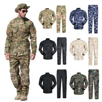 Military Combat Uniform Camo Suit Tactical Jacket + pants Hunting Paintball sets