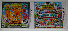 Nintendo 3DS Lot - Moshi Monsters Moshlings Theme Park (New) Katsuma Unleashed