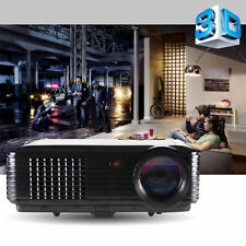 HOT SALES! 4000 Lumens 3D Portable Office Home Theater Projectors HD 1080p LED A
