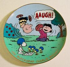 "Danbury Mint Peanuts ""You Blockhead Charlie Brown"" Gold Trimmed Collector Plate"