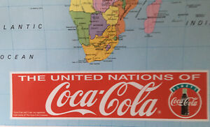 Untied Nations Of Coca Cola Promotional Map