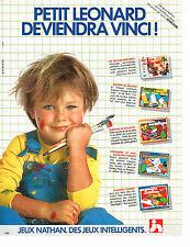 PUBLICITE ADVERTISING 034   1984   NATHAN  jeux jouets JOUECLUB