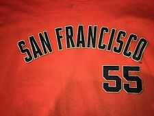 NEW w/ TAGS ~ San Francisco Giants #55 Tim Lincecum Youth L ~  Orange T-shirt