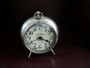ANTIQUE 1908 THE AUTOMATIC NEW HAVEN CLOCK CO. Alarm Clock - For Repairs / Parts