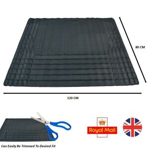 Car Boot Liner Mat Heavy Duty Durable Water Resistant Protector - Rubber Black