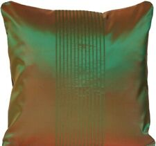 Green Shade Brown Cushion Cover Stripes Osborne & Little Silk Fabric CLEARANCE