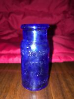 Antique Bromo Seltzer Emerson Drug Co. Cobalt Blue Glass Small Bottle