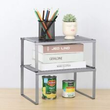 2 Pack Kitchen Racks and Shelves Cabinet Counter Shelf Organizer Storage Rack