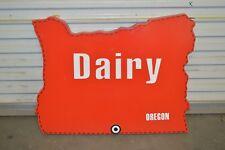 Oregon Dairy Store 3D Dealer Advertising Display Light Up Sign - Not Porcelain