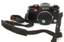 Leica R4 R 4 Solo Corpo Nera con coperchio e Cinghia a Tracolla