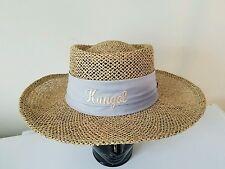 Kangol Vintage Wide Brim Panama Straw Mens Hat Golf Summer Sun Protection USA Md