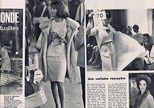 COUPURE DE PRESSE CLIPPING 1964 Nathalie Wood  (4 pages)