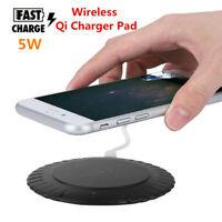 Qi Wireless Charger Slim Pad Ultrathin Fast Charging Desktop For Mobile Phone