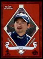 2002 Fleer Tradition Ichiro Suzuki Seattle Mariners #487