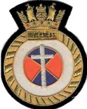 British HMS Royal Navy Inverness Patch Badge Ship War Mine Sweeper MineHunter M