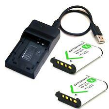 Battery / USB Charger For Sony Cyber-Shot DSC-WX300 DSC-WX350 DSC-WX500 New