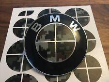 DIGITAL CAMO Complete Set of Vinyl Sticker Overlay All BMW Emblems