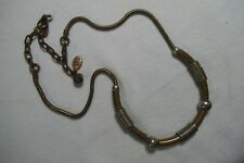 Vintage Marjorie Baer SF Modernist Mixed Metals Choker Necklace w/Snake Chain