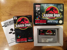 JURASSIC PARK Snes Boxed with Manuals PAL Super Nintendo Original Fully Tested