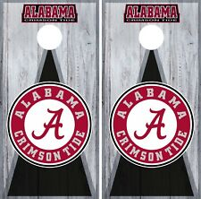 Alabama Crimson Tide Cornhole Wrap University Decal Sticker Texture Single W150