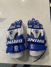 "BRINE King IV - Royal Blue & White Mens 13"" Lacrosse Gloves Pre-Owned"
