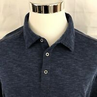 NAT NAST Luxury Originals XL Blue Polo Red Trim Casual Mens Shirt Soft