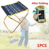 Portable Outdoor Folding Chair Hiking Camping Fishing Picnic BBQ Stool Mini Seat