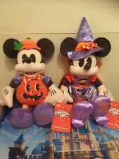 """More details for disney store mickey mouse and minnie mouse 13"""" halloween soft plushes 2020 new!"""
