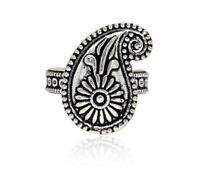 Beautiful Women-Wear-Silver-Plated-Mango Design-Fashion-Adjustable-Ring-Jewelry