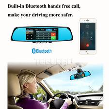 """7"""" Bluetooth Wifi 1080P HD GPS coche Dash Cam Espejo de revisión de cámara frontal y trasera"""