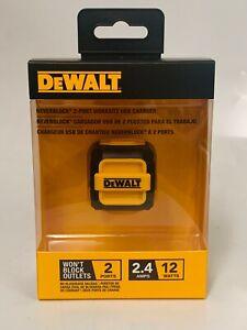 Dewalt DXMA1310849 Neverblock 2-Port Worksite USB Charger 1310849DW2