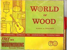 1973 TOOLS MATERIALS PROJECTS Catalogue WORLD of WOOD Guitars Clocks Veneers ++
