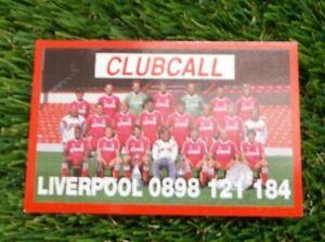 Liverpool LFC Vintage Phone Card 1990-1991