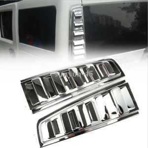 2003-2009 HUMMER H2 Vent cover above rear taillight Cover Trim 2pcs ABS Chrome