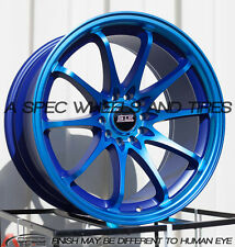 18X9 +30 STR 518 5X114.3 BLUE WHEELS Fits Bmw F32 428 435 E60 528 535 550 5X4.75