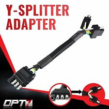 """OPT7 Y-Splitter Adapter Tow Flat Trailer Plug Connector 48"""" Tailgate LED Bar"""