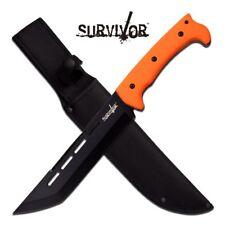 FIXED-BLADE SURVIVAL KNIFE | Hunter Orange Black Tanto Blade Full Tang Tactical