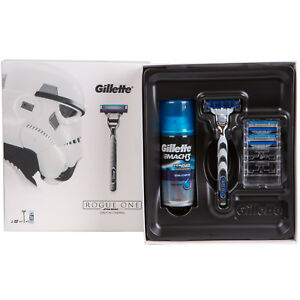 Gillette Mach 3 Turbo Star Wars Rogue One Edition Rasierer + 2 Klingen + Schaum