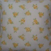 A 16 Inch cushion cover in Laura Ashley Bibi Cowslip Fabric