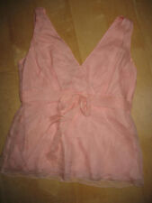 J Crew Pretty Pink Lined Silk Top - Size P2-VGUC