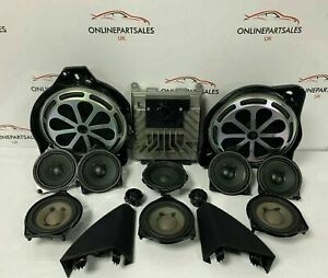MERCEDES C CLASS W205 SALOON COMPLETE BURMESTER SOUND SYSTEM WITH SUBS + AMP