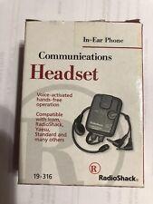 Radio Shack 19-316 Communications Headset with VOX