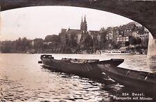 SVIZZERA - Basel - Rheinpartie mit Münster - Foto Cartolina 1953
