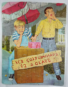 Vintage 1960s Dennis the Menace 63 Piece Jigsaw Puzzle by Whitman - Complete