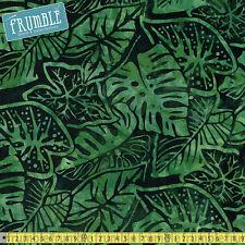 Robert Kaufman Tessuto Batik totalmente Tropical foglie di palma per metro Stile Retrò Vintage